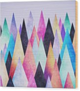 Colorful Abstract Geometric Triangle Peak Woods  Wood Print