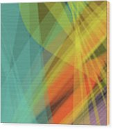 Colorful Abstract Vector Background Banner, Transparent Wave Lin Wood Print