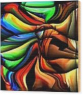 Colorful Abstract1 Wood Print