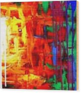 Colorful Abstract2of2 Wood Print