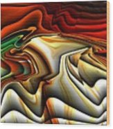 Colorful Abstract33 Wood Print