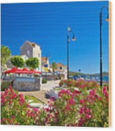 Colorful Adriatic Town Of Rogoznica Wood Print