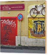 Colorful Advertising In Palma Majorca Spain Wood Print