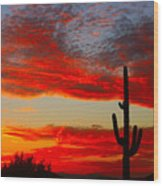 Colorful Arizona Sunset Wood Print
