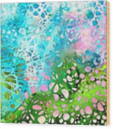 Colorful Art - Enchanting Spring - Sharon Cummings Wood Print
