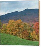 Autumnal Vermont Wood Print