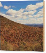 Colorful Autumn Panorama - West Virginia Wood Print