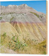 Colorful Badlands Of South Dakota Wood Print