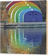 Colorful Bandshell Wood Print