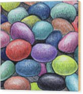 Colorful Beans Wood Print