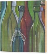 Colorful Bottles Wood Print
