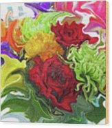 Colorful Bouquet Wood Print