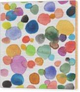 Colorful Bubbles Wood Print