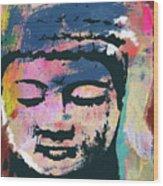 Colorful Buddha 1- Art By Linda Woods Wood Print
