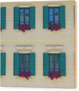 Colorful Building Wood Print