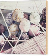 Colorful Cake Pops 3 Wood Print