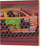 Colorful Car  Wood Print