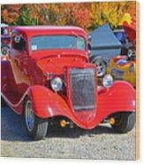 Colorful Car Show Wood Print