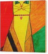 Colorful Cat Wood Print