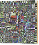 Colorful Chaotic Composite Wood Print
