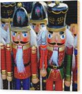 Colorful Christmas Nutcrackers Wood Print