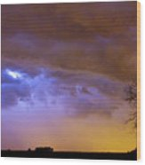 Colorful Cloud To Cloud Lightning Stormy Sky Wood Print by James BO  Insogna