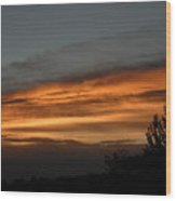 Colorful Clouds In Dawn Sky Wood Print