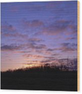 Colorful Clouds In The Sky Wood Print
