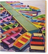 Colorful Collection Wood Print
