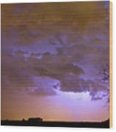 Colorful Colorado Cloud To Cloud Lightning Thunderstorm 27 Wood Print by James BO  Insogna