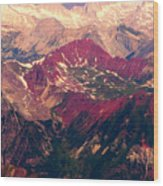 Colorful Colorado Rocky Mountains Wood Print