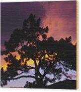 Colorful Colorado Sunset Wood Print