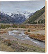 Colorful Colorado Valley Wood Print