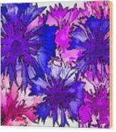 Colorful Cornflowers Wood Print