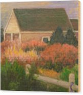 Colorful Cottage Cape Cod Wood Print