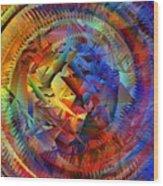Colorful Crash 10 Wood Print