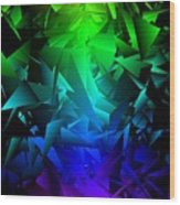 Colorful Crash 6 Wood Print