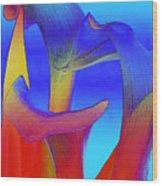 Colorful Crowd Wood Print