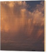 Painting With Clouds, Part 3 Wood Print