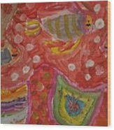 Colorful Deep Sea Wood Print