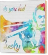 Colorful Dirty Harry Wood Print