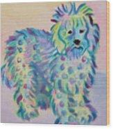 Colorful Dog Wood Print