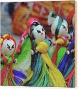 Colorful Dolls Wood Print