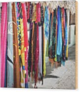 Colorful Dominican Garments Wood Print