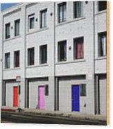 Colorful Doors- By Linda Woods Wood Print