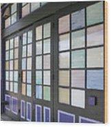 Colorful Doors Wood Print