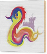 Colorful Dragon Wood Print