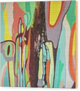 Colorful Earth Day Wood Print