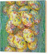 Colorful Eggs Wood Print by Carl Deaville