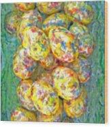 Colorful Eggs Wood Print